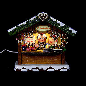 Small Figures & Ornaments Hubrig Winter Kids Winter Children Market Booth Gingerbread House - 10 cm / 4 inch
