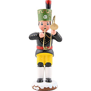Small Figures & Ornaments Hubrig Winter Kids Winter Children Miner Trombone - 9 cm / 3,5 inch