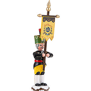 Small Figures & Ornaments Hubrig Winter Kids Winter Children Miner with Banner - 9 cm / 3.5 inch