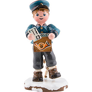 Small Figures & Ornaments Hubrig Winter Kids Winter Children Postman - 8 cm / 3 inch