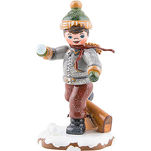 Small Figures & Ornaments Hubrig Winter Kids Winter Children Schoolboy - 7 cm / 3 inch