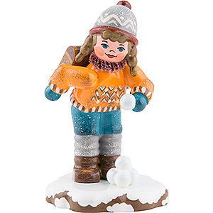 Small Figures & Ornaments Hubrig Winter Kids Winter Children Schoolgirl - 7 cm / 3 inch