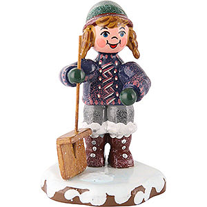 Small Figures & Ornaments Hubrig Winter Kids Winter Children Snow Sweeper - 6 cm / 2 inch