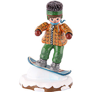 Small Figures & Ornaments Hubrig Winter Kids Winter Children Snowboarder- 8 cm / 3 inch