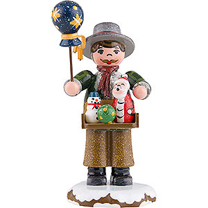Small Figures & Ornaments Hubrig Winter Kids Winter Children Toy Salesman - 8 cm / 3 inch