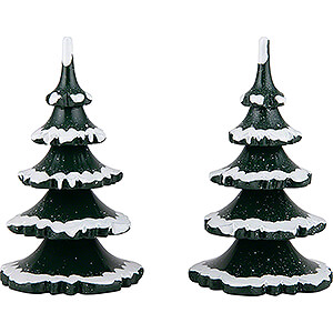 Small Figures & Ornaments Hubrig Winter Kids Winter Children Trees - Large - Set of 2 - 11 cm / 4.3 inch