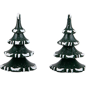 Small Figures & Ornaments Hubrig Winter Kids Winter Children Trees - Medium - Set of 2 - 8 cm / 3.1 inch