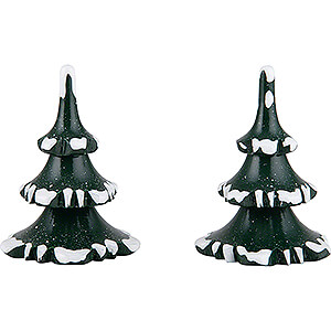Small Figures & Ornaments Hubrig Winter Kids Winter Children Trees - Small - Set of 2 - 6 cm / 2.4 inch