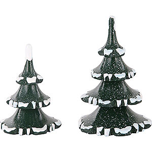 Small Figures & Ornaments Hubrig Winter Kids Winter Children Two Trees in Set - 6 & 8 cm / 2 & 3 inch