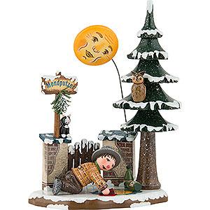 Small Figures & Ornaments Hubrig Winter Kids Winter Children Zschorlauer Moon Cleaner - 15cm/6 inch