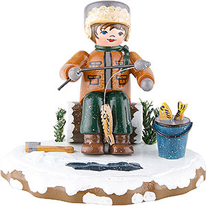 Small Figures & Ornaments Hubrig Winter Kids Winter Kids Ice Fishing - 7 cm / 2,8 inch