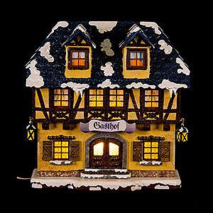 Kleine Figuren & Miniaturen Hubrig Winterkinder Winterhaus Gasthof - 15 cm