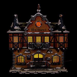 Kleine Figuren & Miniaturen Hubrig Winterkinder Winterhaus Rathaus - 21 cm
