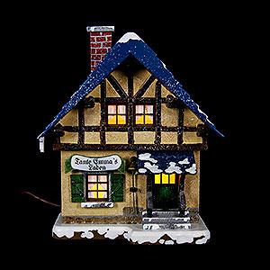 Kleine Figuren & Miniaturen Hubrig Winterkinder Winterhaus Tante-Emma-Laden - 14 cm