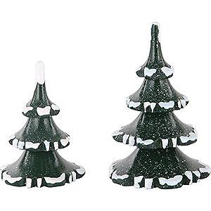 Kleine Figuren & Miniaturen Hubrig Winterkinder Winterkinder 2er Set Winterbaum klein - 6 & 8 cm