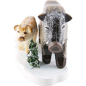 Kleine Figuren & Miniaturen Hubrig Winterkinder Winterkinder 4er Set Wildschweine - 3 cm