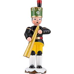 Kleine Figuren & Miniaturen Hubrig Winterkinder Winterkinder Bergmann Russisches Horn - 9 cm