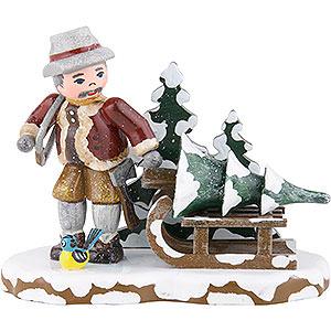 Kleine Figuren & Miniaturen Hubrig Winterkinder Winterkinder Christbaumdieb - 9x8 cm