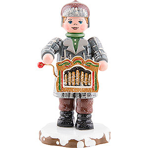 Kleine Figuren & Miniaturen Hubrig Winterkinder Winterkinder Drehorgelspieler - 7,5 cm