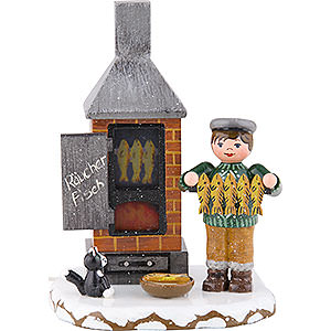 Kleine Figuren & Miniaturen Hubrig Winterkinder Winterkinder Fischräucherei - 11 cm