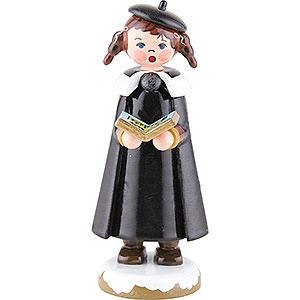 Kleine Figuren & Miniaturen Hubrig Winterkinder Winterkinder Kurrendemädchen mit Buch und Zöpfen - 8 cm