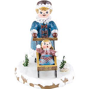 Kleine Figuren & Miniaturen Hubrig Winterkinder Winterkinder Mädchen mit Kinderschlitten - 7 cm