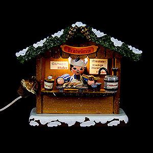 Kleine Figuren & Miniaturen Hubrig Winterkinder Winterkinder Marktbude Bratwursthäusel - 10 cm