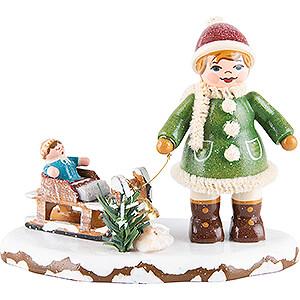 Kleine Figuren & Miniaturen Hubrig Winterkinder Winterkinder Oh, es schneit, es schneit - 6,5 cm