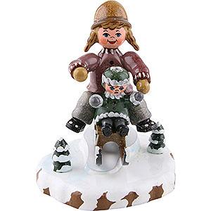 Kleine Figuren & Miniaturen Hubrig Winterkinder Winterkinder Schlittenfahrerin - 7 cm
