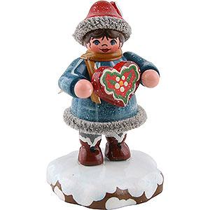 Kleine Figuren & Miniaturen Hubrig Winterkinder Winterkinder Tinchens Lebkuchenherz - 5 cm