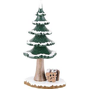 Kleine Figuren & Miniaturen Hubrig Winterkinder Winterkinder großer Winterbaum - 17 cm