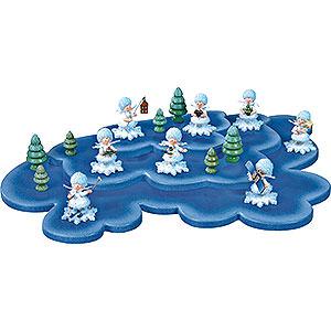 Kleine Figuren & Miniaturen Kuhnert Schneeflöckchen Wolke für Schneeflöckchen 3 Etagen - 43x28 cm