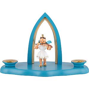 Lichterwelt Kerzenhalter Engel Wolke mit Engel und Spitzbogen 17x9x12 cm