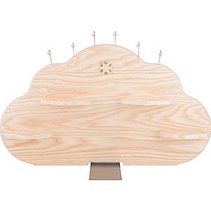 Weihnachtsengel Kurzrockengel (Blank) Wolkenrückwand für Engelwolke, natur - 57x36 cm