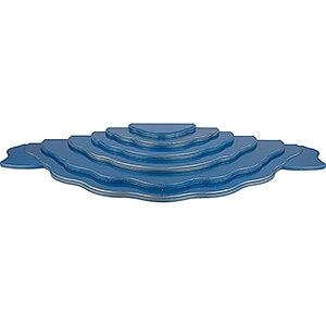 Weihnachtsengel Engel - blaue Flügel - klein Wolkenstecksystem - Wolkenlandschaft 7-teilig - blau/gold - 102x38x8 cm