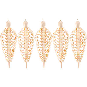 Tree ornaments All tree ornaments Wood Chip Cone, Set of Five - 10 cm / 4 inch
