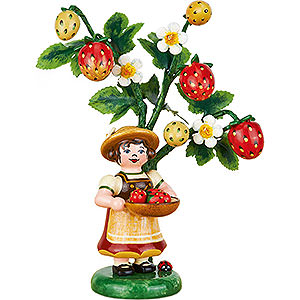 Small Figures & Ornaments Hubrig Autumn Kids Yearly Figure 2014 Strawberry - 13 cm / 5 inch