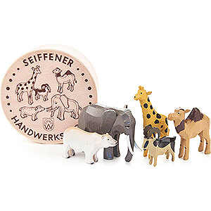 Small Figures & Ornaments Wood Chip Boxes Zoo Animals in Wood Chip Box - 4,5 cm / 1.8 inch
