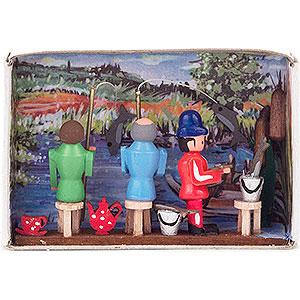 Kleine Figuren & Miniaturen Zündholzschachteln Zündholzschachtel Angler - 4 cm