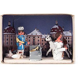 Kleine Figuren & Miniaturen Zündholzschachteln Zündholzschachtel Aschenbrödel - 4 cm