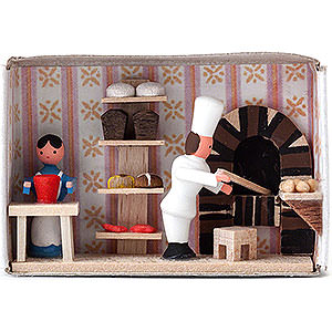 Kleine Figuren & Miniaturen Zündholzschachteln Zündholzschachtel Bäckerei - 4 cm