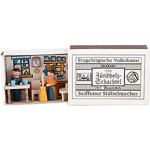 Kleine Figuren & Miniaturen Zündholzschachteln Zündholzschachtel Bauernstube - 3,8 cm