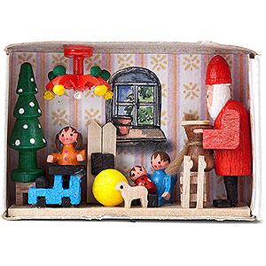 Kleine Figuren & Miniaturen Zündholzschachteln Zündholzschachtel Bescherung - 4 cm