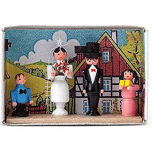 Kleine Figuren & Miniaturen Zündholzschachteln Zündholzschachtel Brautpaar - 4 cm