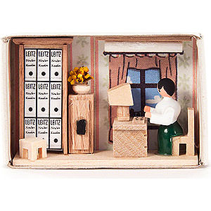 Kleine Figuren & Miniaturen Zündholzschachteln Zündholzschachtel Büro - 4 cm