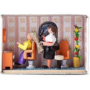 Kleine Figuren & Miniaturen Zündholzschachteln Zündholzschachtel Friseur - 4 cm