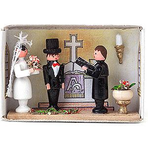 Kleine Figuren & Miniaturen Zündholzschachteln Zündholzschachtel Hochzeit - 4 cm
