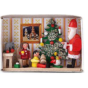 Kleine Figuren & Miniaturen Zündholzschachteln Zündholzschachtel Kinderweihnachtsfeier - 4 cm