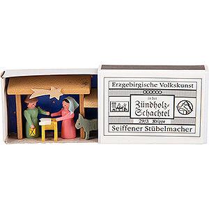 Kleine Figuren & Miniaturen Zündholzschachteln Zündholzschachtel Krippe - 3,8 cm