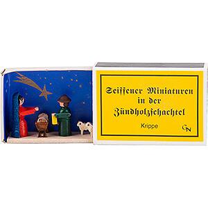 Kleine Figuren & Miniaturen Zündholzschachteln Zündholzschachtel Krippe - 4 cm